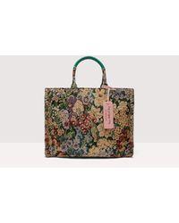Coccinelle Never Without Bag Medium Tessuto realizzato utilizzando la tecnica jacquard, che permette di ottenere disegni complessi - Multicolore