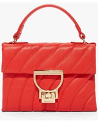 Coccinelle Arlettis Mignon Polish Red Glattes Leder - Rot
