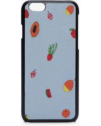 Coccinelle I-phone 6/7 Cover Multicolor Iris Leather - Blue