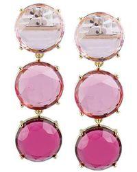 Jardin Pink Ombre Drop Earrings