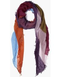Chan Luu Abstract Print Scarf In Cordovan - Purple