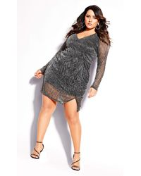 City Chic - Sparkle Dress - Lyst