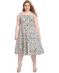 RACHEL Rachel Roy - Leopard Cotton Fit & Flare - Lyst