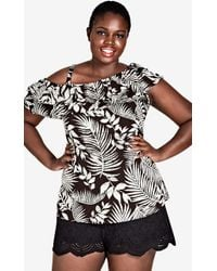 City Chic - Palm Play Top - Lyst