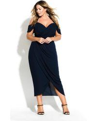 City Chic Entwine Maxi Dress - Blue