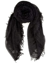 Chan Luu Solid Color Cashmere Silk Scarf In Black
