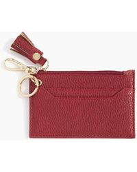Shiraleah Cece Card Case With Keychain In Red