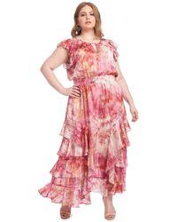 RACHEL Rachel Roy Issa Tie-dye Maxi Dress - Pink
