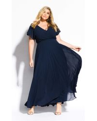 City Chic Sweet Wishes Maxi Dress - Blue