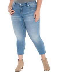 Slink Jeans The Frayed Hem Crop - Blue