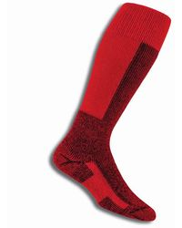 Thorlo Skx Unisex Ski Socks - Red