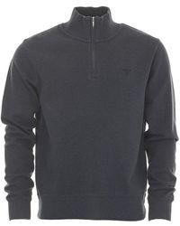 GANT - Sacker Rib 1/2 Zip Sweater - Lyst