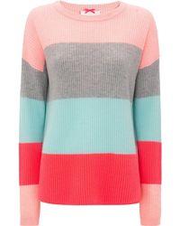 Cocoa Cashmere - Gracie Block Striped Knit - Lyst