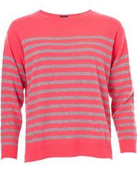 Cocoa Cashmere - Stripe Crew Knit - Lyst
