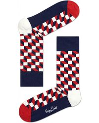 Happy Socks Filled Optic Socks - Blue