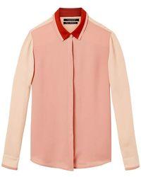 Scotch & Soda Draped Shirt - Pink