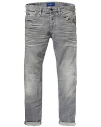 Scotch & Soda Ralston - Stone And Sand Regular Slim Fit Jeans - Black