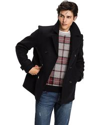 Tommy Hilfiger Tartan Check Peacoat - Blue