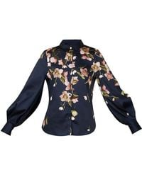 Ted Baker Arboretum Full Sleeve Blouse - Blue