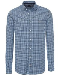 Tommy Hilfiger Gingham Check Shirt - Blue