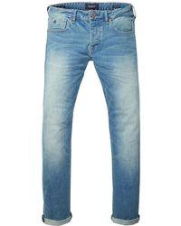Scotch & Soda Ralston - Scrape And Shift Regular Slim Fit Jeans - Blue