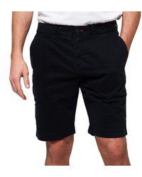 Superdry International Slim Chino Shorts - Blue