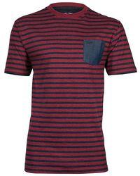 Raging Bull - Chambray Pocket Striped T-shirt - Lyst