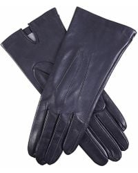 Dents Felicity Silk Lined Hairsheep Leather Gloves - Blue