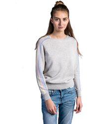 JEFF Dali Rainbow Sleeve Sweater - Gray