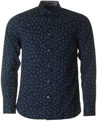 Ted Baker - Dandelion Print Long Sleeve Shirt - Lyst