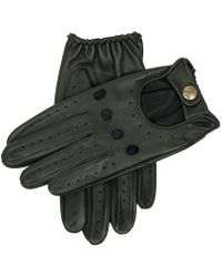 Dents Delta Hairsheep Leather Classic Driving Gloves - Black