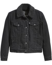 Levi's Original Sherpa Trucker Jacket - Black