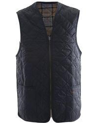 Barbour Quilted Waistcoat/zip-in Liner - Blue