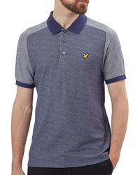 Lyle & Scott - Reverse Birdseye Saddle Shoulder Polo Shirt - Lyst