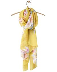 Joules Wensley Long Line Woven Scarf - Yellow
