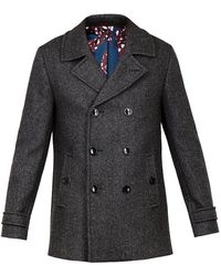 Ted Baker - Grild Double Breasted Peacoat - Lyst