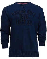 Raging Bull Big And Tall Graphic Jersey Sweat - Blue