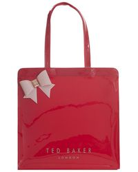 Ted Baker Auracon Large Bow Icon Bag - Red