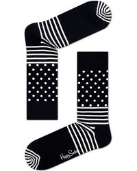 Happy Socks - Cotton Blend Stripe Dot Socks - Lyst