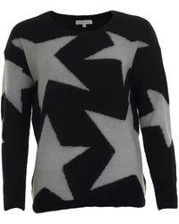 JEFF Miles Star Knit Sweater - Black