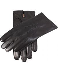 Dents Leather Gloves With Cashmere Lining - Black