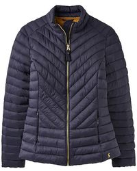 Joules Elodie Chevron Quilted Womens Jacket (z) - Blue
