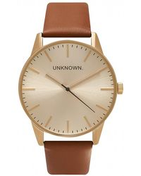 Unknown - Watches The Classic Tan & Gold Watch - Lyst