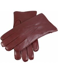 Dents Fur Lined Leather Gloves - Multicolour