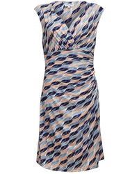 Almost Famous - Brush Stroke Slinky Dress - Lyst