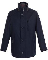 Bugatti Wool Gore-tex Coat - Blue