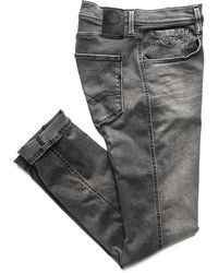 Replay Hyperflex Anbass Slim Fit Jeans - Gray