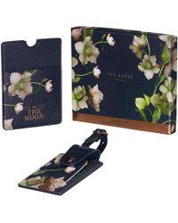 Ted Baker Arboretum Luggage Tag & Passport Set - Black