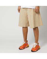 Maison Margiela Linen Shorts - Natural