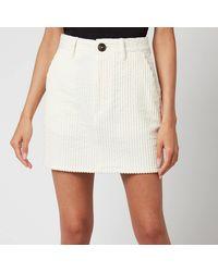 AMI Corduroy Mini Skirt - Black